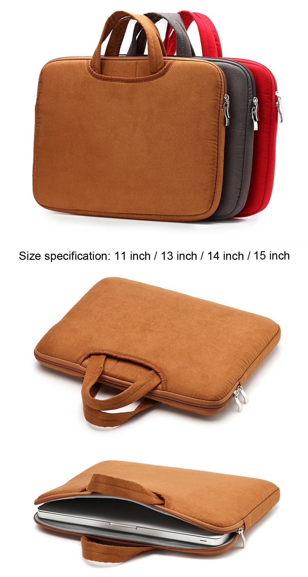 11, 13 14 en 15 inch Laptop Pouch for MacBook Air of Pro
