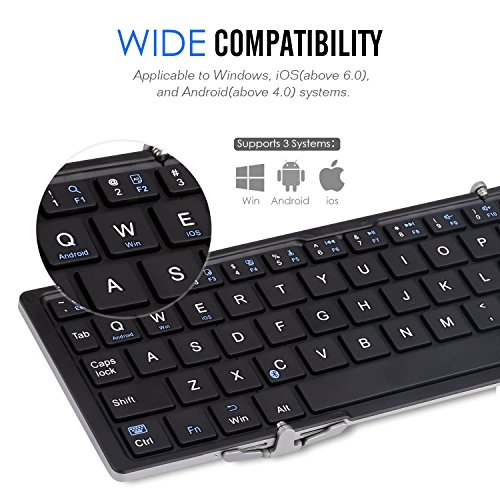Dagaanbieding - Ultra Slim Wireless Bluetooth Keyboard For Windows Android IOS PC Phone Tablet dagelijkse koopjes