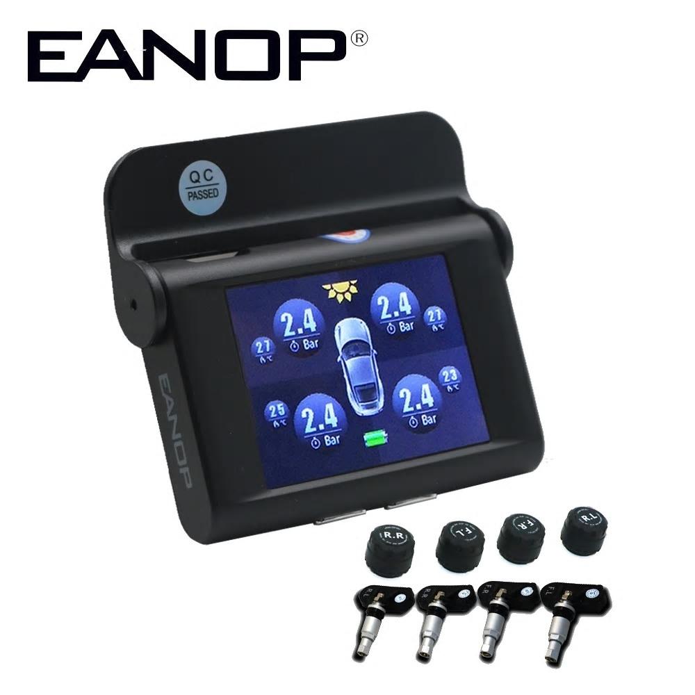 Dagaanbieding - Draadloos Bandenspanning Controlesysteem, op zonnecellen, met 4 Sensoren en 2,4 inch TFT scherm. dagelijkse aanbiedingen