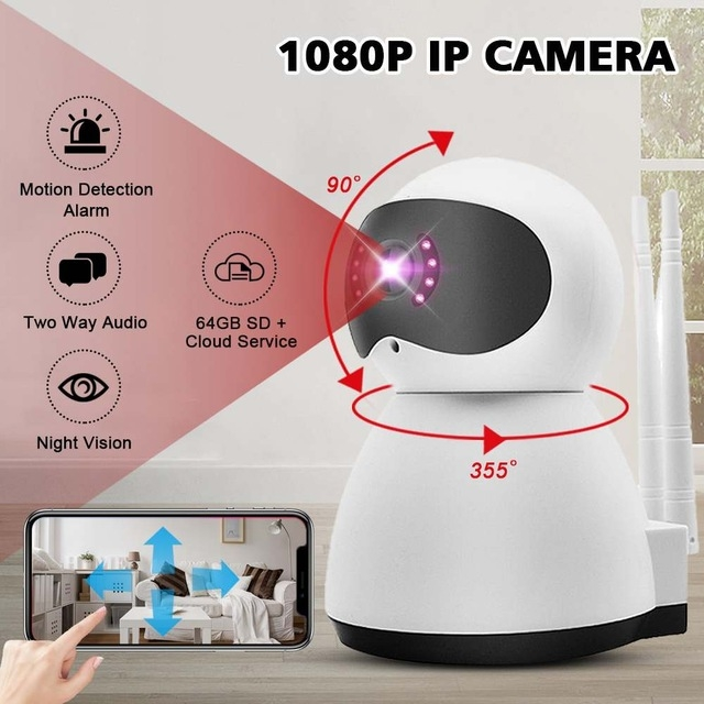 c516956b97dcc4 Dagaanbieding - Full HD Home Security IP 360° WIFI IP-1080p  beveiligingscamera