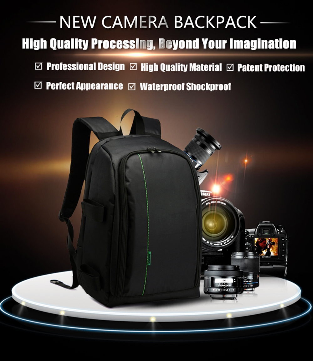 Portable Waterproof Scratchproof Outdoor Sports DSLR Camera Bag Backpack