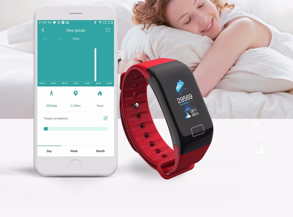 Dagaanbieding - Activity Tracker Smart Bracelet Bluetooth Heart Rate Monitor dagelijkse aanbiedingen