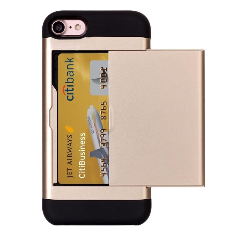 Dagaanbieding - iPhone X, 8 en 8 plus TPU hoesje met pinpashouder dagelijkse koopjes