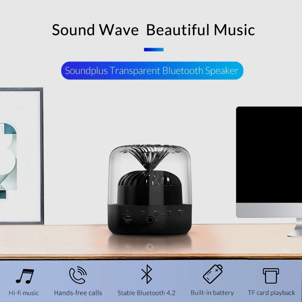 7b3d427d2fd5f7 Dagaanbieding - Mini Transparante Draadloze Bluetooth Speaker, met Super  Bass Stereo dagelijkse aanbiedingen