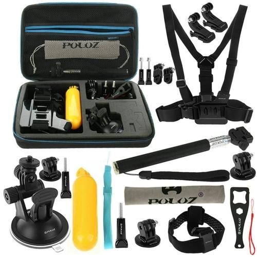 Dagaanbieding - PULUZ 20 in 1 Accessoire Combo Kit met EVA Case dagelijkse aanbiedingen