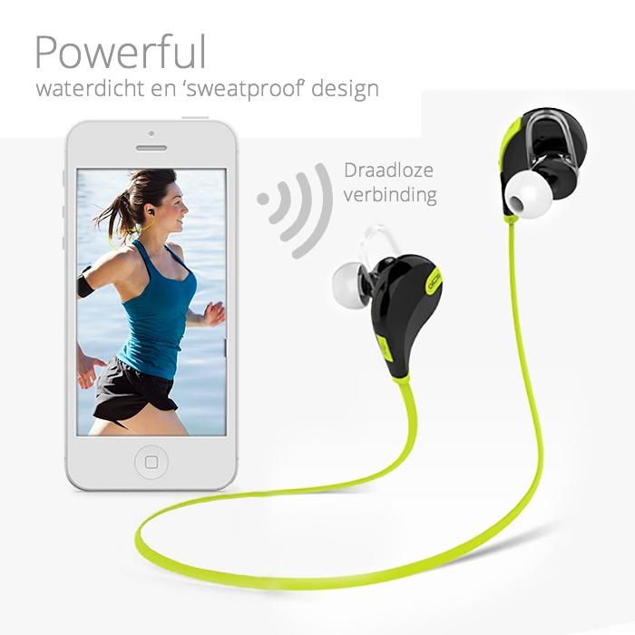 Draadloze in-ear Sport Headset
