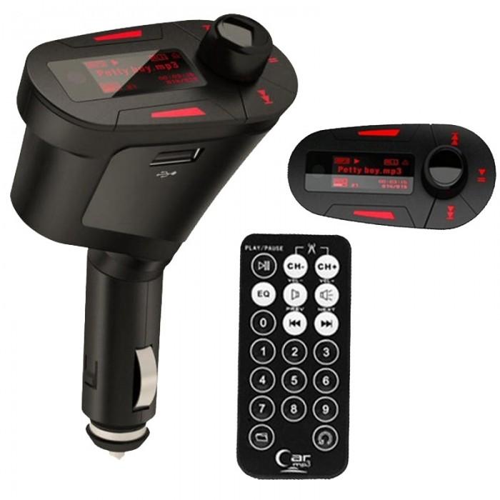 FM Transmitter 12V - Bepaal nu zelf welke muziek er op de radio speelt! Sluit simpel je Smartphone of MP3-speler via de 3,5mm jackplug aan op deze kleine FM-zender en je beluister je eigen muziek op de radio, alsof het een radiozender is.Kies een zwakke radiofrequentie om met je FM transmitter in te breken en je eigen muziek te beheren, zonder reclames, non-stop! De FM frequentie stel je (met de meegeleverde afstandsbediening) nauwkeurig in per 0.1 MHz (87.5-107.9 MHz) en wordt weergegeven op het verlichte LCD (...)