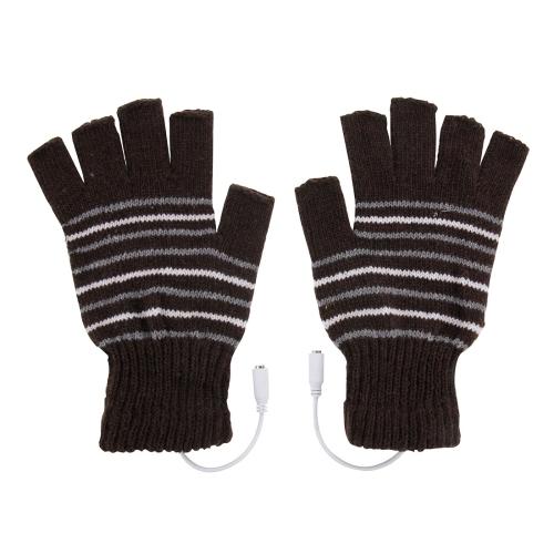 Dagaanbieding - Verwarmbare via USB halfvinger handschoenen dagelijkse aanbiedingen