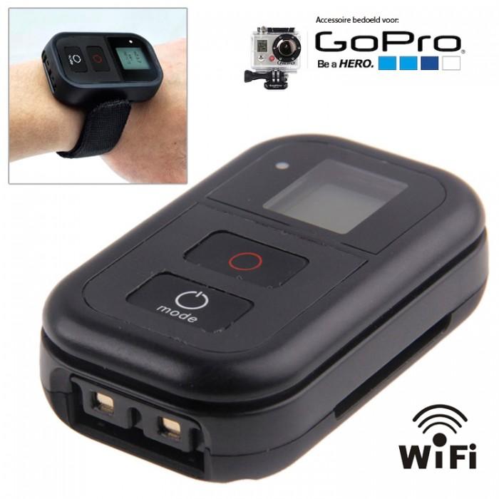 WiFi Remote voor GoPro - De WiFi Remote is een aanwinst in de productlijn van GoPro accessoires. Met deze afstandsbediening heb je volledige controle over je GoPro Camera. Hierdoor hoef je niet langer op de tast te zoeken naar de aan/ uit en record-knop te zoeken, maar bedien je je GoPro vanaf je pols.Via de WiFi Remote kun je je GoPro camera tevens vanaf een afstand bedienen. De afstandsbediening heeft een bereik van maar liefst 200 meter. De Remote heeft als extra functionaliteit dat je tot vijftig GoPro camera's(...)