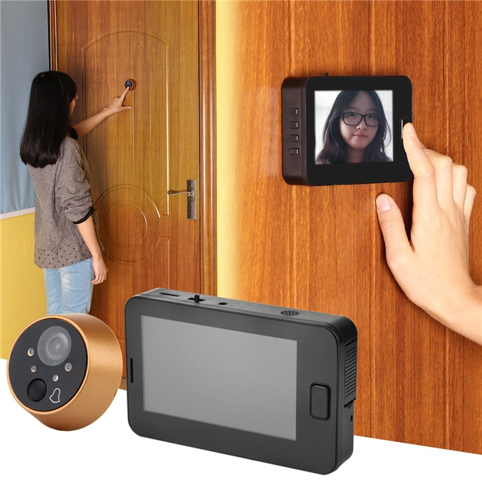 Dagaanbieding - 4.3 inch Smart Doorbell Camera with 170 Degree Wide Angle Night Vision Function dagelijkse koopjes